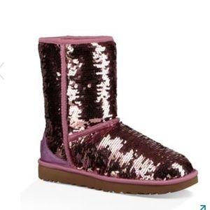Glitter pink UGGS size 9.